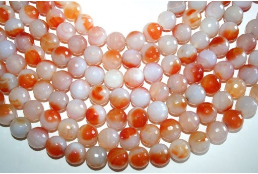 Agate Beads Sphere 128 Faces 16mm - 25pz