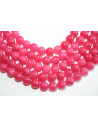 Mashan Jade Beads Strawberry Pink Sphere 8mm - 48pz