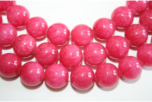 Mashan Jade Beads Strawberry Pink Sphere 14mm - 28pz
