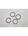 Rhodium Plated 925 Sterling Silver Split Ring 8mm