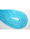 Chinese Crystal Beads Faceted Rondelle Sky Blue 8x6mm - 70pz