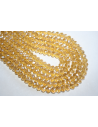 Filo 70 Perline Vetro Giallo Oro AB Rondella Sfaccettata 8x6mm VE60