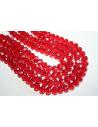 Filo 70 Perline Vetro Rosso Rondella Sfaccettata 10x7mm VE61