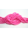 Glass Beads Candy Pink 4mm - Filo 100pz