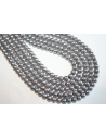 Glass Beads Silver Grey Sphere 6mm - Filo 68pz