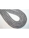 Perline Vetro Grigio Argento Sfera 6mm - Filo 68pz