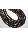 Glass Beads Dark Brown 6mm - Filo 68pz
