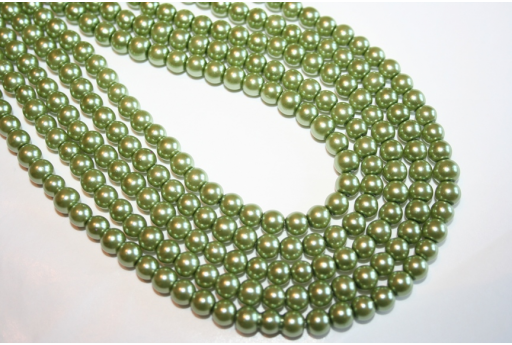 Glass Beads Light Green 6mm - Filo 68pz