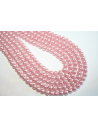 Glass Beads Light Pink 6mm - Filo 68pz
