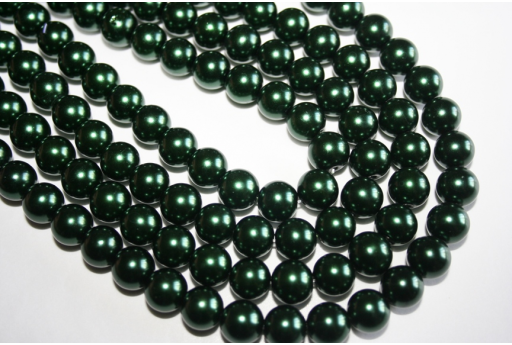 Glass Beads Green Sphere 10mm - Filo 44pz