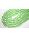 Chinese Crystal Beads Faceted Rondelle Light Green AB 8x6mm - 70pz