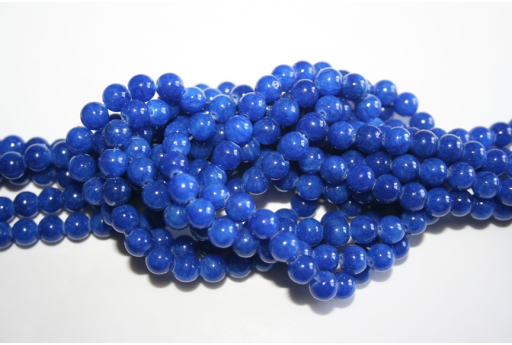 Mashan Jade Beads Blue Sphere 6mm - 64pz