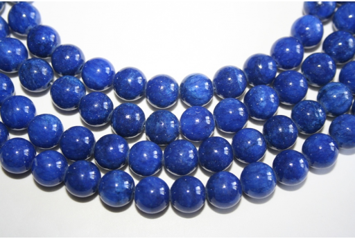 Mashan Jade Beads Blue Sphere 10mm - 38pz