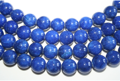 Mashan Jade Beads Blue Sphere 12mm - 32pz