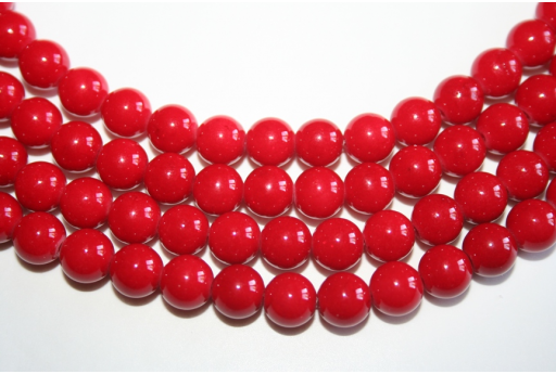 Mashan Jade Beads Red Sphere 8mm - 48pz