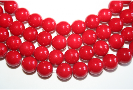 Mashan Jade Beads Red Sphere 10mm - 38pz