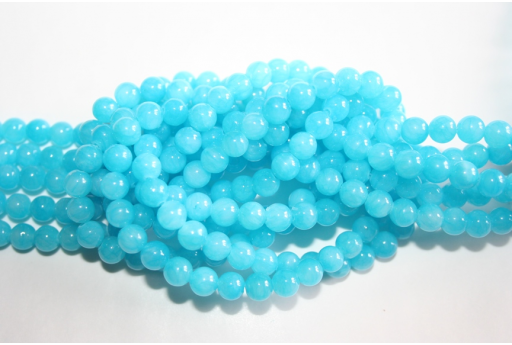 Mashan Jade Beads Aquamarine Sphere 6mm - 64pz