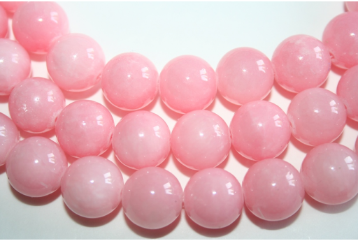 Mashan Jade Beads Light Pink Sphere 14mm - 28pz