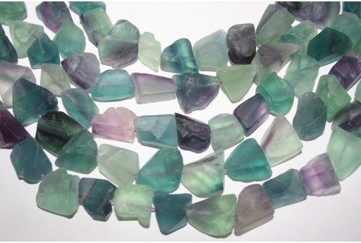 Fluorite Beads Rainbow Rock 20X30mm - 16pz