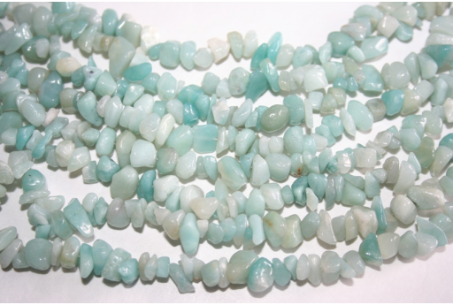 Filo 220 Pietre Amazonite Chips 5x8mm AMA21