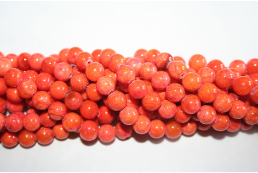 Mashan Jade Beads Orange Sphere 8mm - 48pz GI236