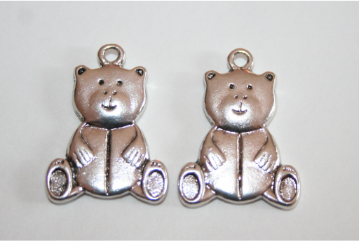 Tibetan Silver Bear Pendants 26x19mm - 2pcs