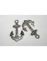 Tibetan Silver Anchor Pendants 21x34mm - 6pcs