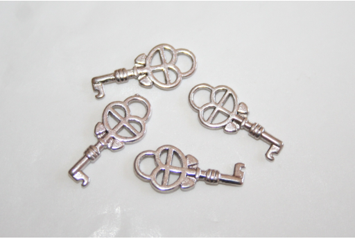 Tibetan Silver Key Pendants 18x8mm - 10pcs