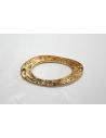 Connettori Argento Tibetano Colore Oro Ovale Twist 36x18mm - 2pz