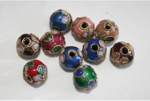 5 Perline Cloisonne