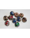 Perline Cloisonne Mix Color Sfera 8mm - 5pz