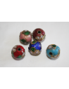 Perline Cloisonne Mix Color Sfera 10mm - 4pz
