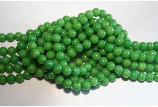 Mashan Jade Beads Green Sphere 6mm - 64pz GI245