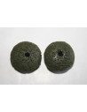 Lava Rock Beads Dark Green Rondelle 20x8mm - 2pz