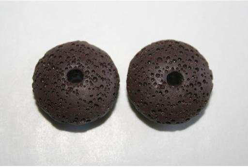 Lava Marrone Rondelle 20x8mm - 2pz