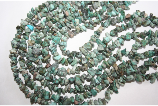 African Turquoise Beads Chips 5x8mm - 220pz