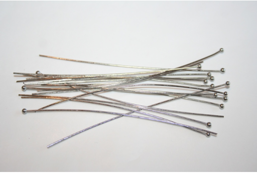 Platinum Plated Ball Headpins 70x0,7mm - 25pcs