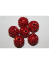Perlina Strass Resina Rossa Sfera 10mm RE01A
