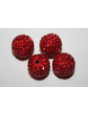 Resin Beads Rhinestone Red Sphere 12mm - 1pz
