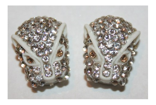 Resin Beads Rhinestone White 14x13mm - 1pz