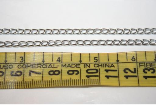 Aluminium Chain 4x5,2mm Silver Plated - 2m