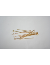 Gold Plated Eyepins 40x0,7mm - 50pcs