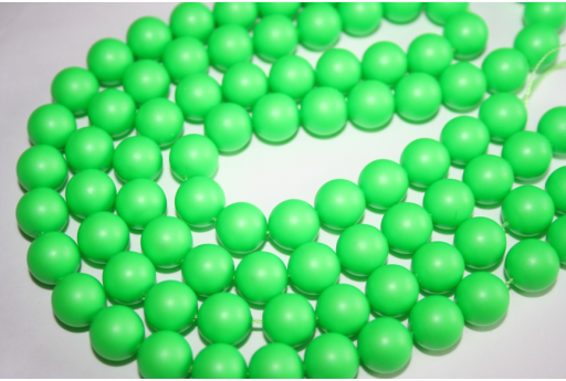 Swarovski Pearls Neon Green 5810 10mm - 4pcs