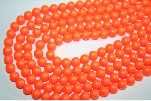 Swarovski Pearls 5810 6mm Neon Orange - 12pcs