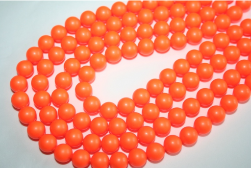 Swarovski Pearls Neon Orange 5810 8mm - 8pcs