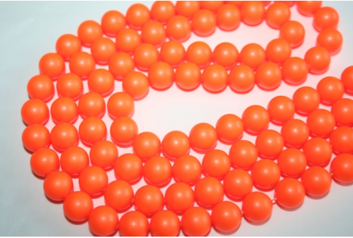 Swarovski Pearls Neon Orange 5810 10mm - 4pcs
