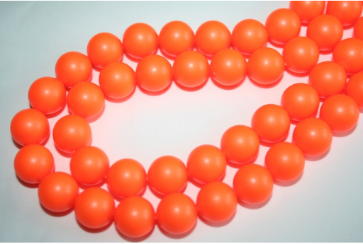 Swarovski Pearls 5810 12mm Neon Orange - 2pcs