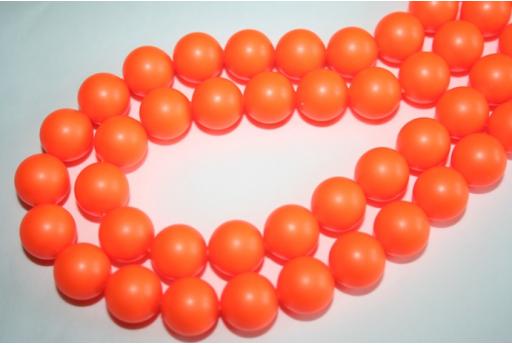 Swarovski Pearls 5810 12mm Neon Orange - 2pcs