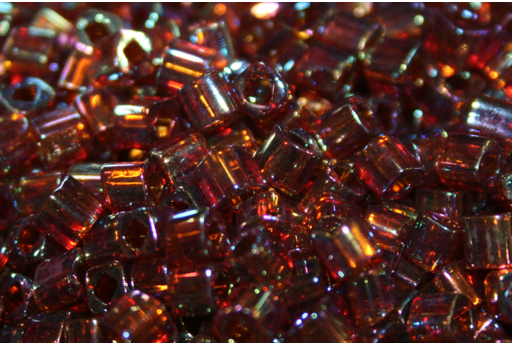 Toho Cube Beads 4mm, 10gr., Trans Rainbow Smoky Topaz