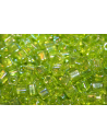 Perline Toho Cubo 4mm, 10gr., Trans Rainbow Lime Green